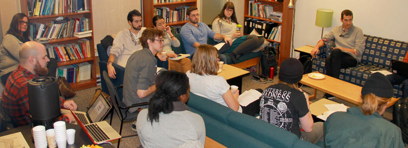 photo of a group of Social and Political thought graduate students